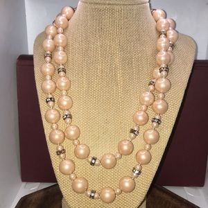 Charter Club Vintage style pink pearl necklace